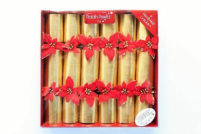 Robin Reed H7 Christmas Holiday 6pc Party Crackers – Poinsettia 6002