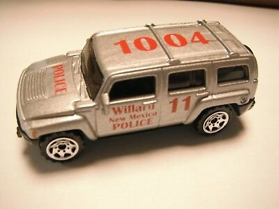 "Special Limited Edition Matchbox Hummer ""Willard New Mexico Police"" red print"