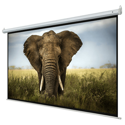 "Homegear 110"" 16:9 HD Electric Motorized Projector Screen + Remote"
