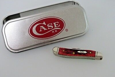 Case XX Pocket Knife 3 Dot 6220 SS Red AND Green Bone Peanut Vintage