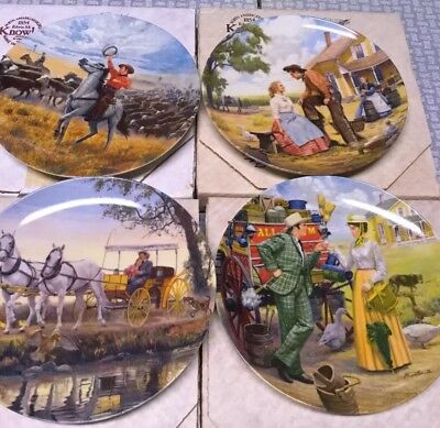 LOT OF 4 VINTAGE MUSICAL... OKLAHOMA!  COLLECTOR PLATES, 1 Money! Nvr Displayed