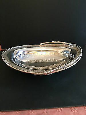 Silver Plated Oval Engraved Basket / Fruit Bowl
