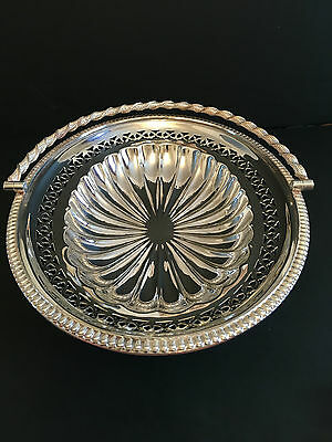 Silver Plated Oval Basket / Fruit Bowl