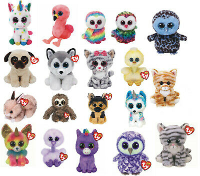 "Unicorn Plush Soft Toy Ty Beanie Boo's Collection 6"" Choice of 4 Pixy, Fantasia"