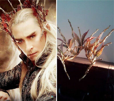 Movie The Hobbit Elven King Thranduil Crown Adult Cosplay Prop Xmas Gift 2 Color