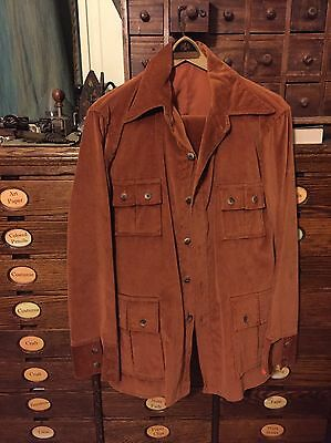 Vintage Corduroy 3 Piece Suit Rust Colored