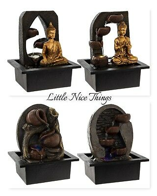 Indoor Water feature Fountain  LED Buddha Feng Shui Ying Yang 240v Mains Silent