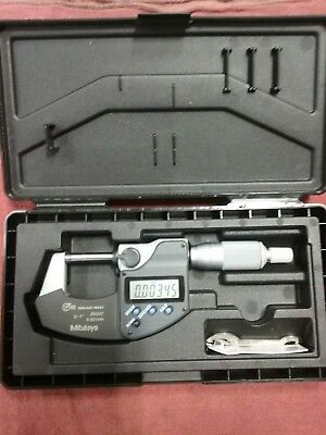 "Mitutoyo Digital Micrometer, 293-340, 0-1""/0-25.4mm (IP65) PERFECT CONDITION."