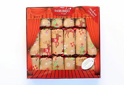 Robin Reed H7 Christmas Holiday 6pc Party Crackers – Finger Puppet Toys 617