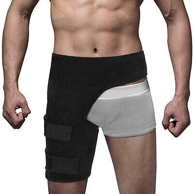 HHS Adjustable Compression Wrap Groin Hip Thigh Quad Hamstring Strap, Support