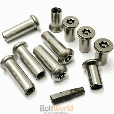6-Lobe Security Barrel Nuts Countersunk / Button Dome Head M4, M5, M6, M8, M10