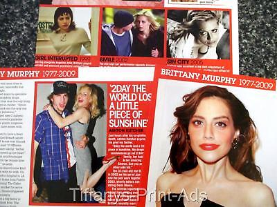 BRITTANY MURPHY What Killed Brittany? 3 Pg Magazine Australian CLIPPINGS  Photo