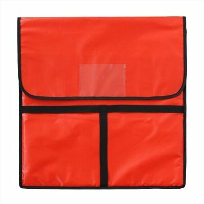 Pizza Delivery Bag Insulated Aluminum Food Box Zipper Fasteners Red New 22x22x5