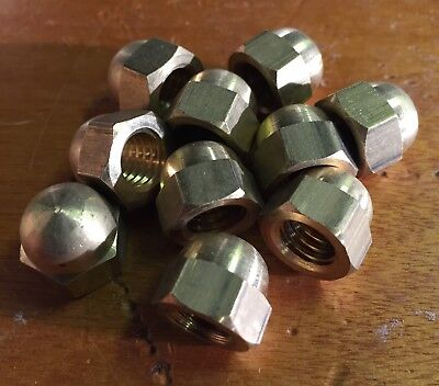 Solid Brass Dome Nut 3/8 BSW Whitworth Qty: 10