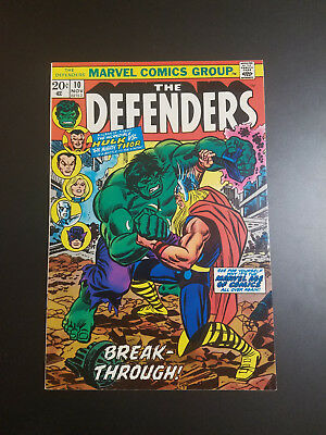 Marvel The Defenders 1973 #10 Hulk Vs Thor Great Color L@@k @ It 1St