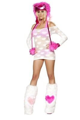 J Valentine LED Heart Fluffies - Light-up Fur Boot Covers
