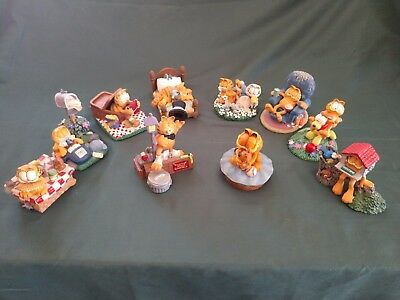 Garfield Lot Of (10) Figurines