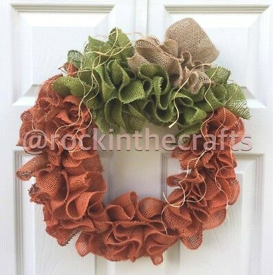 Handcrafted Pumpkin Burlap Wreath