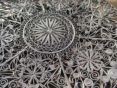 Sterling Silver Intricate Filigree Dish