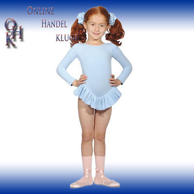 2012# Leotard with Ruffle Long-sleeve Cotton Gr. 98 to 152