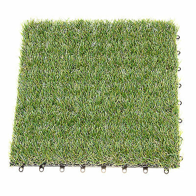 Fake Synthetic Square Grass Turf Astro Landscape Lawn Pet Dog Area 30 cm x 30 cm
