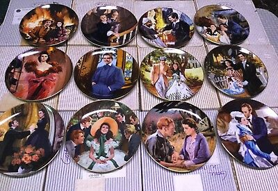 Lot Of 12, Vintage Gone With The Wind Golden Anniversary Series Collector Plates