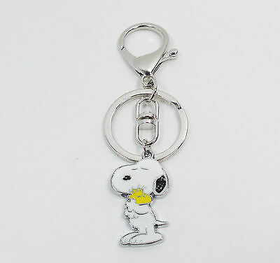 SNOOPY Woodstock Keychain Clip Fob Ring Key Charm for Soccer Coach Sports or Bag