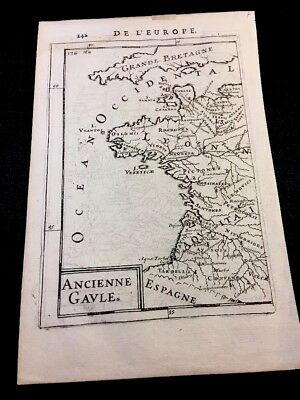 MAP OF  ANCIENT GAUL 1600s