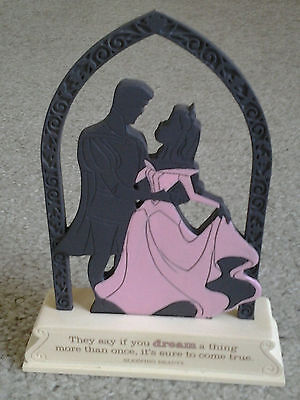 """Sleeping Beauty Silhouette Standing Figure """"dream More Than Once, It Comes True"""""""