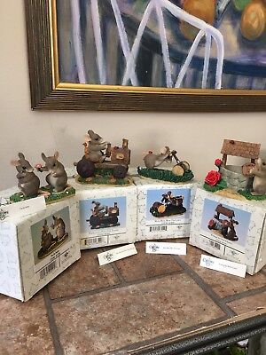 Charming Tails By Fitz And Floyd Lot Of Four Figurines