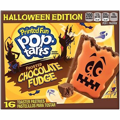 New Sealed Halloween Edition Printed Fun Pop Tarts Frosted Chocolate Fudge 29 Oz