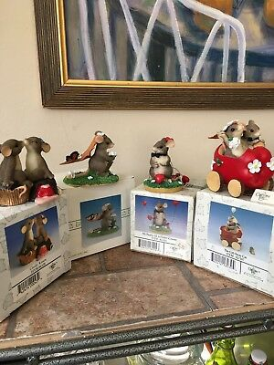 Charming Tails Fitz And Floyd Lot Of Four Figurines