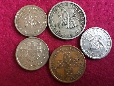 Portugal Coin Collection. Nice Set Of Pre Euro Coins
