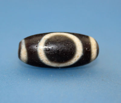 24*11 mm Antique  Dzi  Agate old 2 eyes  Bead  from Tibet ***Free shipping***