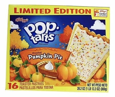 New Sealed Limited Edition Pop Tarts Frosted Pumpkin Pie 28 Oz Toaster Pastries