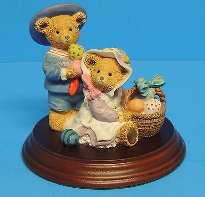 Upstairs Downstairs Bears Dept 56 Henry & Alice Bosworth Easter Egg Hunt C Lawso