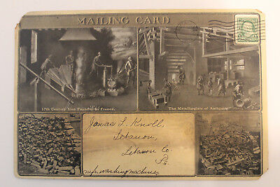 BUFFALO FORGE COMPANY New York advertising Promotional MAILING CARD dated 1903