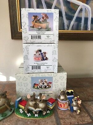 Charming Tails Fitz And Floyd Lot Of Three Figurines