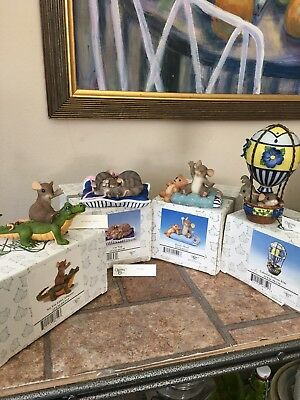 Charming Tails Fitz And Floyd Lot Of 4 Figurines