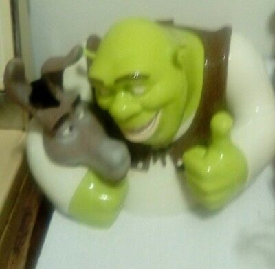 Disney SHREK TALKING COOKIE JAR 2004 EXCELLENT CONDITION DreamWorks very funny