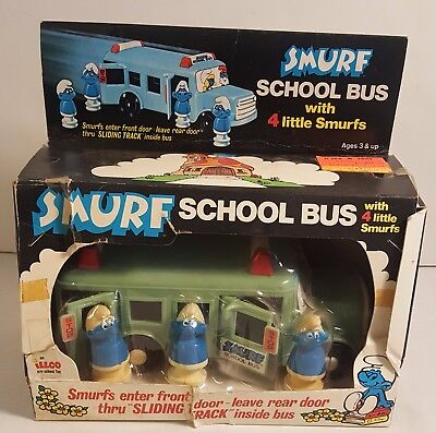 Vintage SMURFS School Bus From 1982 (MINT IN THE BOX)