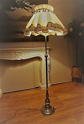 RARE Vintage COPPER & Brass FLOOR Standing LAMP Claw FOOT Heavy QZZQ Adelaide