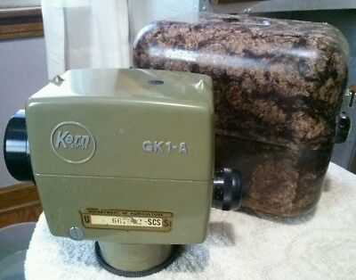 VINTAGE KERN SWISS GK1-A LEVEL TRANSIT US DEPARTMENT OF AGRICULTURE in CASE