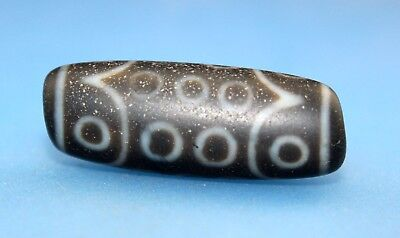 37*14 mm Antique  Dzi  Agate old 21 eyes  Bead  from Tibet ***Free shipping***