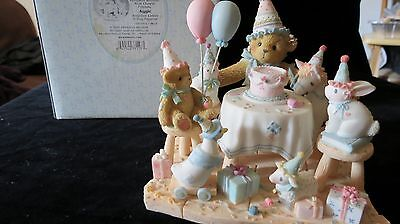 Cherished Teddies Collectable Bears By Enesco Aggie with box AND SIGNED
