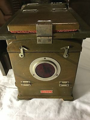 Antique Wooden Contact Printer Glass Negative Dark Room Light Box Vintage