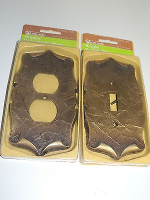 lot of 2 carriage house vintage outlet & switch covers/ nip/ new-old stock