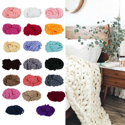Soft Chunky Bulky 100% Roving Wool Yarn Extreme Knitting Arm Knitting 1KG New