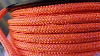 Tuff Tack Equestrian 100% Polyester Double Braid Orange and Pink Rope