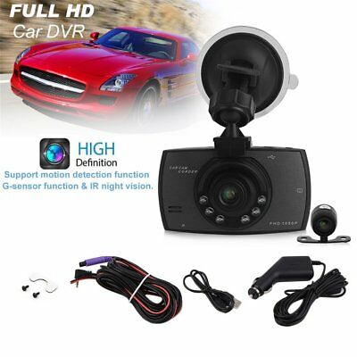 1080P 2.7 Inch HD LCD Double Lens Car Dash Camera Video DVR Cam Recorder NP